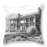 The Carnton Plantation in Franklin Tennessee Throw Pillow by Janet King
