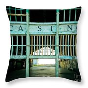 The Casino Throw Pillow by Colleen Kammerer