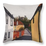 The Castle Keep Throw Pillow by Shirley Miller