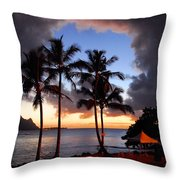 The Center Of The Storm Throw Pillow by Lynn Bauer