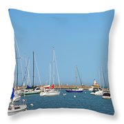 The Chicago Lighthouse Throw Pillow by Christine Till