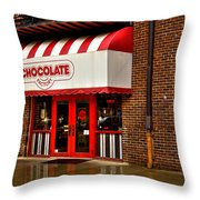 The Chocolate Factory Throw Pillow by David Patterson