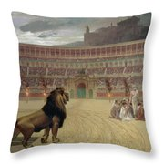 The Christian Martyrs Last Prayer Throw Pillow by Jean Leon Gerome