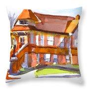 The Church On Shepherd Street 3 Throw Pillow by Kip DeVore