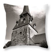 The Church With The Dormers On The Steeple Throw Pillow by Olivier Le Queinec