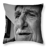 The Cigar Maker Throw Pillow by Rene Triay Photography