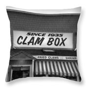 The Clam Box Throw Pillow by Joann Vitali