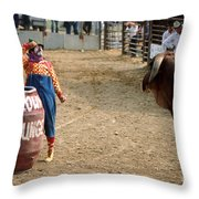 The Clown Throw Pillow by Jerry McElroy