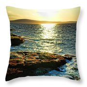 The Coast of Maine Throw Pillow by Olivier Le Queinec
