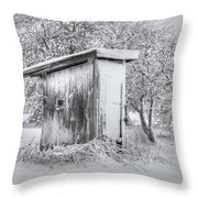 The Coldest Fifty Yard Dash Throw Pillow by Benanne Stiens