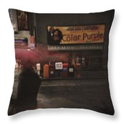 The Color Purple Throw Pillow by Linda Unger