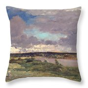 The Coming Storm Throw Pillow by Charles Francois Daubigny