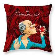 The Connoisseur Throw Pillow by Johnny Trippick