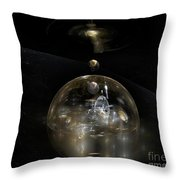 The Cosmic Builder Throw Pillow by Peter R Nicholls