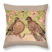 The Courtship Throw Pillow by Angela Davies
