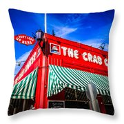 The Crab Cooker Newport Beach Photo Throw Pillow by Paul Velgos