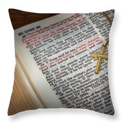 The Cross Of Jesus Throw Pillow by David and Carol Kelly
