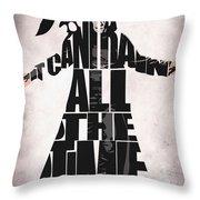 The Crow Throw Pillow by Ayse Deniz
