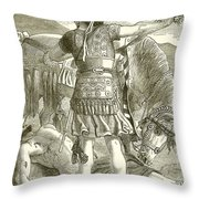 The Crucifixion Throw Pillow by English School