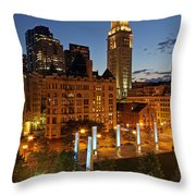 The Custom House Of Boston Throw Pillow by Juergen Roth