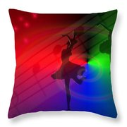 The Dance Throw Pillow by Joyce Dickens