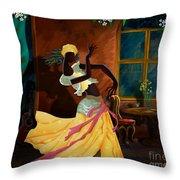 The Dancer Act 1 Throw Pillow by Bedros Awak