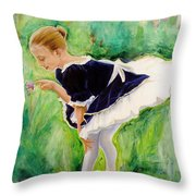 The Dancer Throw Pillow by Sheila Diemert
