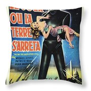 The Day The Earth Stood Still Vintage Poster Throw Pillow by Bob Christopher
