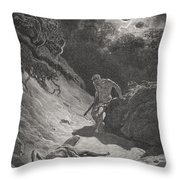 The Death Of Abel Throw Pillow by Gustave Dore