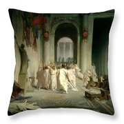 The Death Of Caesar Throw Pillow by Jean Leon Gerome
