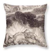 The Death Of Hercules Throw Pillow by Bernard Picart