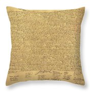 THE DECLARATION OF INDEPENDENCE in SEPIA Throw Pillow by ROB HANS