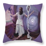 The Devotee Throw Pillow by Shelley Irish