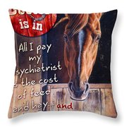 The Doctor Is In Throw Pillow by JQ Licensing