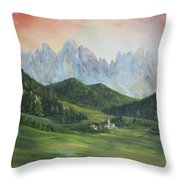 The Dolomites Italy Throw Pillow by Jean Walker