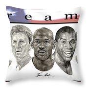 the Dream Team Throw Pillow by Tamir Barkan