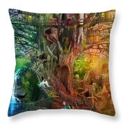 The Dreaming Tree Throw Pillow by Aimee Stewart