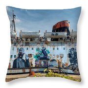 The Duke Of Graffiti Throw Pillow by Adrian Evans