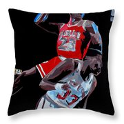 The Dunk Throw Pillow by Don Medina