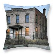 The Duquesne Building - Spokane Washington Throw Pillow by Daniel Hagerman