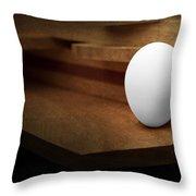 The Egg Throw Pillow by Tom Mc Nemar
