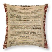 The Emancipation Proclamation Throw Pillow by American School
