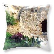 The Empty Tomb Throw Pillow by Thomas R Fletcher