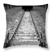 The End Of The Line Throw Pillow by Olivier Le Queinec
