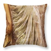 The End Of The Story Throw Pillow by Albert Joseph Moore