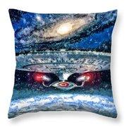 The Enterprise Throw Pillow by Joe Misrasi