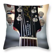 The Epiphone Les Paul Guitar Throw Pillow by David Patterson
