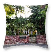 The Ernest Hemingway House - Key West Throw Pillow by Bill Cannon