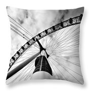 The Eye Throw Pillow by Jorge Maia