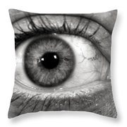 The Eye Throw Pillow by Luke Moore
